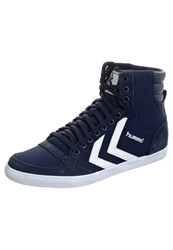 Hummel Slimmer Stadil High Hightop Trainers Dress Blue White Dark Blue