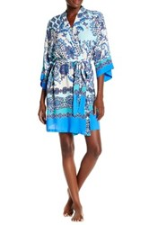 In Bloom By Jonquil Davida Lawn Wrap Robe Blue