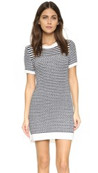 Clu Sweater Dress With Pleating Navy White