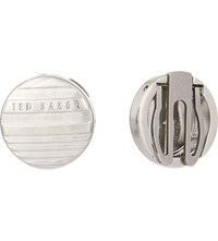 Ted Baker Tonvoc Striped Button Covers Silver Colou