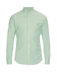 Polo Ralph Lauren Slim Fit Long Sleeved Cotton Blend Shirt Green