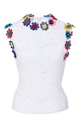 Mary Katrantzou Lee Sleeveless Top White