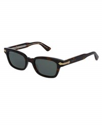 Gucci Rectangular Acetate Frames W Engraved Details Brown
