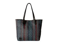 Toms Sojourn Patterned Raffia Tote Indigo Tote Handbags Blue