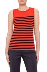 Women's Akris Punto Stripe Wool Tank