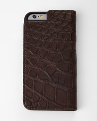 Brown Alligator Iphone 6 Wallet Folio Neiman Marcus