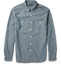 J.Crew Cotton Chambray Shirt Blue