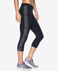 Under Armour Favorite Graphic Capri Leggings Black White
