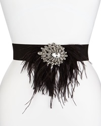 Deborah Drattell Lola Stretch Belt W Jeweled Feather