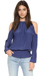 Ramy Brook Lauren Blouse Spring Navy
