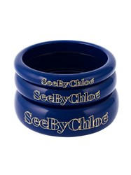 See By Chloe Set Of Three Bangles Blue