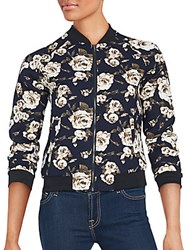 Romeo And Juliet Couture Floral Zip Front Jacket