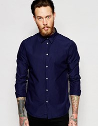 Paul Smith Jeans Oxford Shirt In Tailored Slim Fit Navy