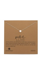 Dogeared Love Necklace Pearl Gold
