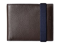 Lacoste Classic Premium Small Billfold Chocolate Brown Insignia Bill Fold Wallet