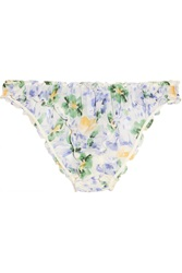 Elle Macpherson Moroccan Rose Low Rise Printed Chiffon Briefs Blue