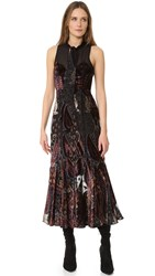 Free People Hands To Hold Burnout Maxi Dress Black Combo