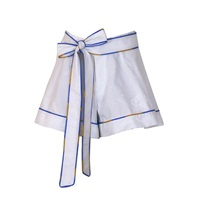 Supersweet X Moumi Jade Oxford Shorts White