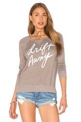 Sundry Fleece Drift Away Sweatshirt Taupe