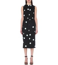 Paul Smith Polka Dot Print Cotton Dress Black