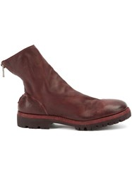 Guidi Back Zip Boots Pink And Purple