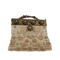 Selection Privee Muse Minaudiere Clutch Ivory
