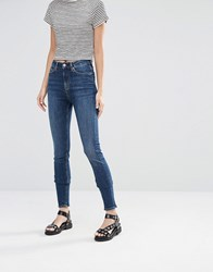 Weekday Thursday High Waist Skinny Jeans Blue Coast