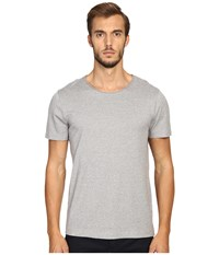 Vince Rustic Mouline Short Sleeve Crew Smoked Grey Men's Clothing Gray
