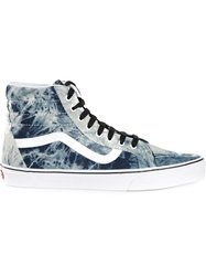 Vans Tie Dye Print Lace Up Sneakers Blue