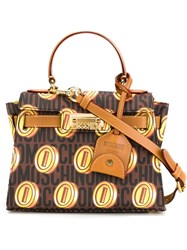 Moschino Monogrammed Tote Brown