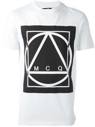 Mcq By Alexander Mcqueen Glyph Icon Print T Shirt White