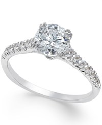 Macy's Certified Diamond Solitaire Engagement Ring 1 1 4 Ct. T.W. In 18K White Gold