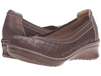 Spring Step Jute Brown Women's Slip On Shoes