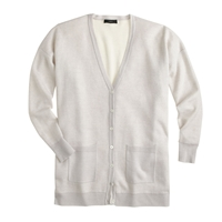 J.Crew Double Knit Merino Wool Boyfriend V Neck Cardigan