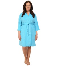 Jockey Plus Size Vintage Terry Robe Bermuda Blue Women's Robe