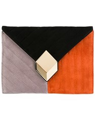 Pierre Hardy Quilted Clutch Black