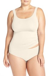 Nordstrom Plus Size Women's Lingerie Two Way Seamless Tank Ivory Pristine