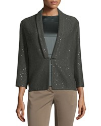 Brunello Cucinelli 3 4 Sleeve Diamond Couture Sweater Military