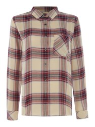 Barbour Brae Check Shirt Red