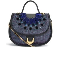 Matthew Williamson Women's Embellished Micro Satchel Bag Navy Multi