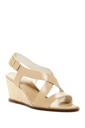 Bettye Muller Ponza Wedge Sandal Beige