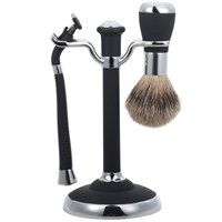 John Lewis Men's Shaving Set Black