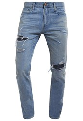 Hollister Co. Slim Fit Jeans Blue Destroyed Denim