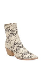 Women's Matisse 'Caty' Western Pointy Toe Bootie Black White Snake Leather