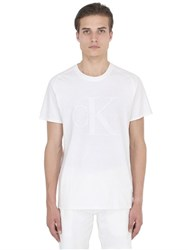 Calvin Klein Jeans Slim Fit Infinity White Jersey T Shirt