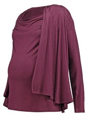 Bellybutton Bobina Nursing Long Sleeved Top Winetasting Bordeaux