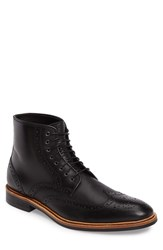 Gordon Rush Men's Stafford Wingtip Boot Black
