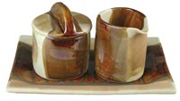 Alex Marshall Studios Sugar Creamer And Platter Set