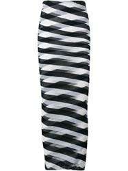 Stella Mccartney Long Striped Skirt Blue