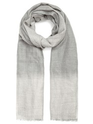 Jacques Vert Soft Check Ombre Scarf Grey